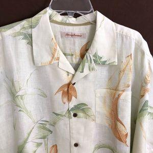 Tommy Bahama Hawaiian Shirt XL 100% Linen Camp